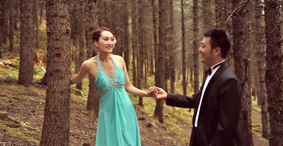 毕棚沟森林婚纱照