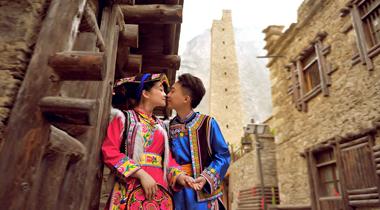 龙溪羌人谷婚纱照